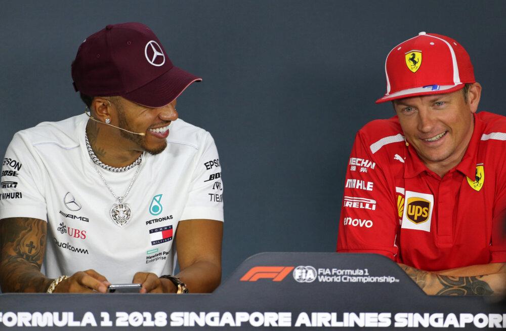 Lewis Hamilton ja Kimi Räikkönen
