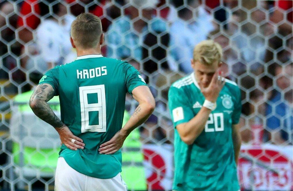Pettunud Saksamaa koondislased.