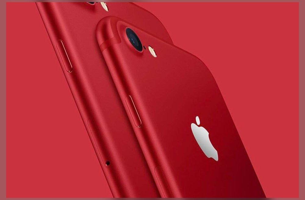 Tuline telefon: Apple tõi heategevuse eesmärgil välja punase iPhone 7