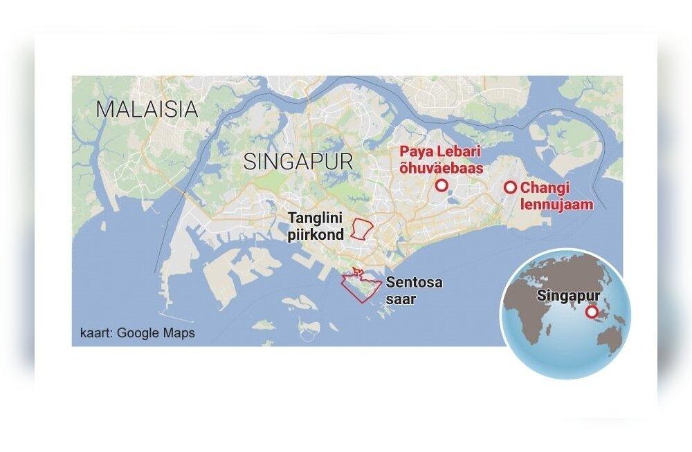 Singapur, Changi lennujaam ja paya Lebari õhuväebaas.