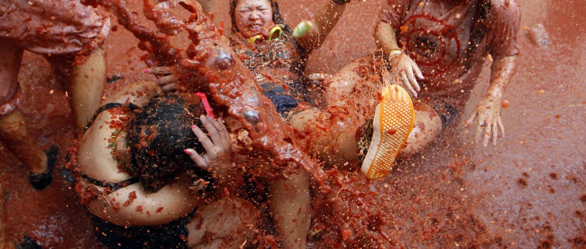 ФОТО: В Испании прошел знаменитый праздник Томатина. Смотрите, как это было!