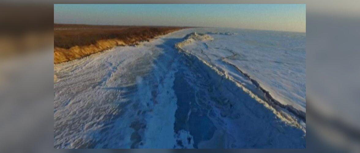 Необычное природное явление: на границе России и Китая выросла ледяная стена