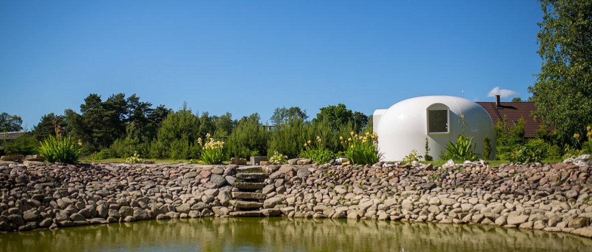 Maja nagu teiselt planeedilt. Ainulaadne komposiitmaterjalist energiasäästlik kuppelmaja saab valmis paari nädalaga