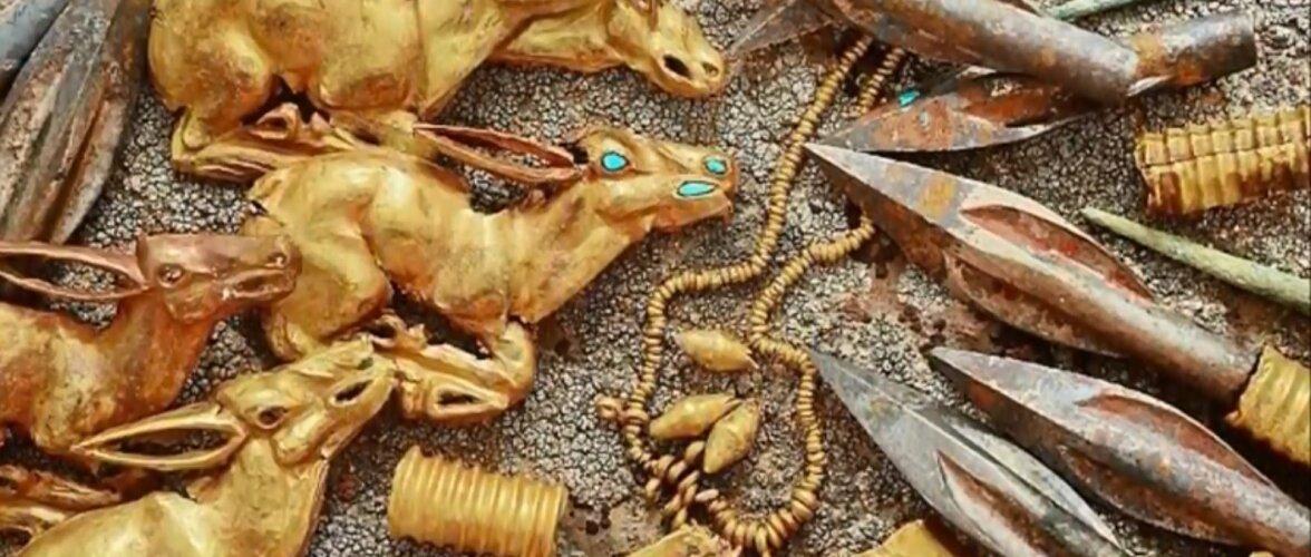 В Казахстане нашли золотые сокровища возрастом 2800 лет