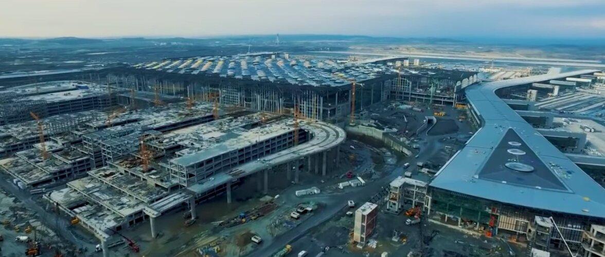 VIDEO | Istanbuli ehitatakse maailma kõige suuremat lennujaama — vaata, kuidas töö kulgeb!