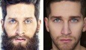 Mehed enne ja pärast habemeajamist