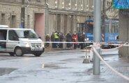 DELFI VIDEO JA FOTOD: Pommipaanika tõttu suleti Tallinna kesklinnas tänav