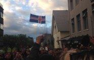 DELFI LUGEJA VIDEO: Vaata, kuidas Islandi ajaloolist võitu Inglismaa üle tänavatel tähistati