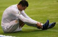 OHUMÄRK: Cristiano Ronaldo sai tänasel treeningul vigastada