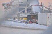 ФОТО DELFI: В Таллиннском порту мужчина упал в судовой трюм