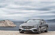 Mercedese uus E-klass meenutab väliselt margi lipulaeva ega jää ka omadustelt S-klassile palju alla. Autot pakutakse erineva esiosa kujustusega.