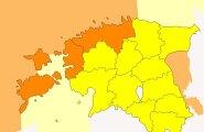 Погода в Эстонии крайне изменчива — объявлено штормовое предупреждение