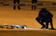 DELFI FOTOD ja VIDEO: Saku suurhalli juures tulistati meest kõhtu