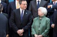 Euroopa Keskpanga president Mario Draghi ja USA keskpanga Föderaalreservi juht Janet Yellen.