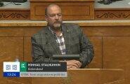 DELFI VIDEO: Stalnuhhini emotsionaalne purse riigikogu ees: Teie, te väidate, et teie olete sallivad!? Nalja teete!?