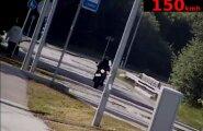 VIDEO: Purjus mootorrattur ületas piirkiirust enam kui 100 km/h