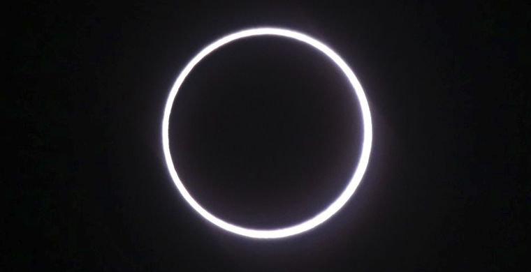 Граждане Африки увидели необычное солнечное затмение