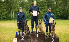 ФОТО: Соревнования патрульных собак выиграла бельгийская овчарка из Пайде