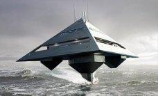 Superjaht, mis kujutab endast lainete kohal kihutavat püramiidi: Schwinge Hyswas Tetrahedron