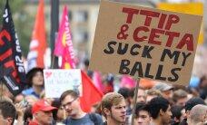 ФОТО: В Германии проходят акции против свободной торговли с Канадой и США