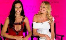 FOTOD: Mehed, pühkige ila! Victoria's Secreti inglid Candice ja Adriana näitasid promoüritusel oma kehakumerusi