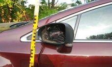 ФОТО: Полиция разыскивает водителя, который снес зеркала автомобилей в Тарту