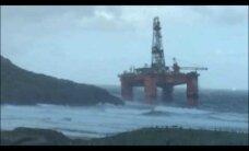 VIDEO: Haruldane avarii - Šotimaal kandsid tormilained randa hiiglasliku naftaplatvormi
