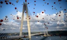 ВИДЕО: В Стамбуле открыт третий мост через Босфор
