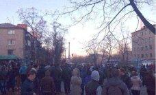 Украина: В Константиновке подожгли общежитие с военными, была слышна стрельба