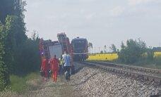 ФОТО: В Рапламаа попал под поезд вышедший на рельсы мужчина
