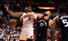 VIDEO: Valanciunas ja Toronto poolel teel poolfinaali, Warriorsile esimene kaotus