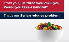 Trumpi poeg vallandas skandaali, võrreldes Süüria pagulasi mürgitatud Skittlesiga