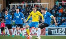 ФОТО: Молодежная сборная Эстонии проиграла чемпионам Европы