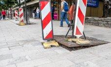 ФОТО: Осторожно! Тротуар на улице Виру выложен плиткой как попало
