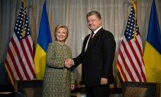 Порошенко встретился с Хиллари Клинтон и обсудил санкции против России