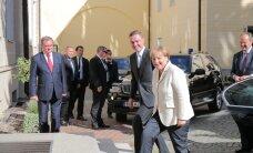 ФОТО и ВИДЕО DELFI: Меркель и Рыйвас провели совместную пресс-конференцию
