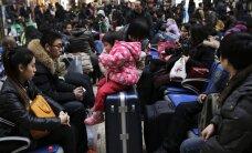 Uue aasta alguseks koju tõttavad hiinlased teevad kokku 2,9 miljardit reisi