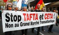 В нескольких странах ЕС прошли акции против торговых соглашений с США и Канадой