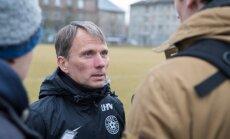 Eesti jalgpallikoondise treening enne mängu Horvaatiaga