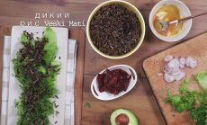 Аппетитный салат с диким рисом, вялеными томатами и авокадо