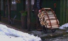 KASULIK KAADERVÄRK: Küttepuud saab ahju ette halukaarikuga tuua
