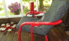 Taburetijalaga tugevdatud tool.