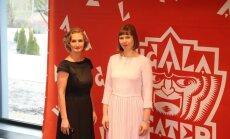 Ugala maja taasavamine: Kristiina Alliksaar Ugala teatrijuht ja EV president Kersti Kaljulaid