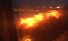 ФОТО: В Сингапуре при посадке загорелся Boeing 777
