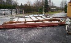 Torm purustas Väätsa lasteaia katuse