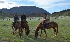 Kasahhi nomaadid oma lambakarjaga