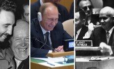 Hruštšov, Putin, Castro