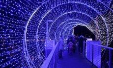 ФОТО: В Юрмале открылся самый большой Парк света в Латвии