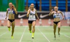 Ksenija Balta (keskel) ei jäänud sooritusega rahule, sest võinuks hea stardi korral Eesti rekordi püstitada.