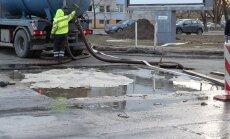 FOTOD: Seoses veeavariiga Tallinnas Paldiski maanteel esineb tõsiseid liiklustakistusi